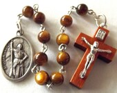 Saint Joan of Arc Brown One Decade Rosary