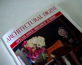 BROADWAY At Home Issue-Vintage ARCHITECTURAL DIGEST Magazine from 1995