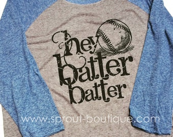 Hey Batter Batter Baseball Shirt - Micro Burn - Baseball Shirt