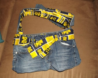 Michigan jean purse