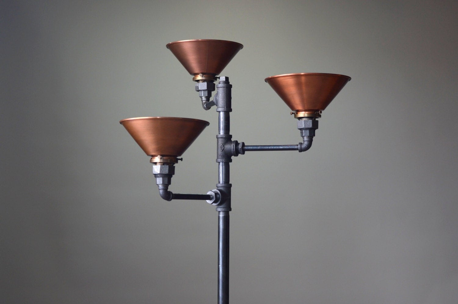 torchiere floor lamp copper shade industrial floor lamp With torchiere floor lamp industrial