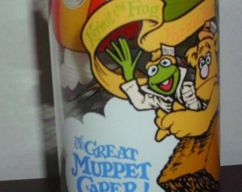 Vintage Great muppet caper mcDonalds 1981 Tumbler Collectible Gonzo kermit Fozi