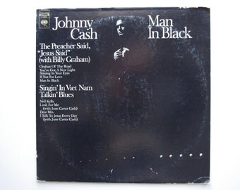 Johnny Cash - Man In Black LP - 1971