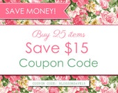 Digital Paper PACK - COUPON CODE - Buy 25 items and save 15 usd. (Please Do not purchase this listing)