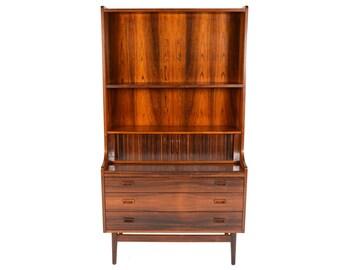 Danish Modern Mid Century Rosewood Secretary Bookcase by Nexo