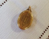 Vintage HAYWARD Locket Gold Filled Oval Engraved Two Pictures Antique Jewelry Romantic Gift Necklace Pendant