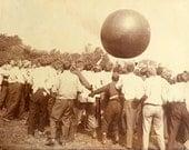 Medicine Ball Training Game Vintage Photo