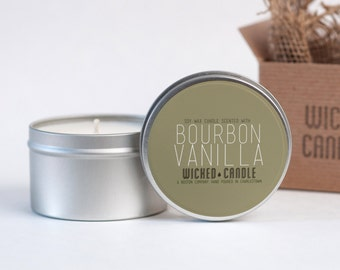 Bourbon Vanilla scented soy wax Wicked Candle