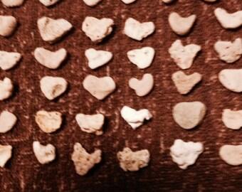 75 X-Small Heart Shape Beach Stones, Home, Garden, Wedding