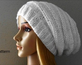 PDF Pattern, How To Knit A Slouchy Hat