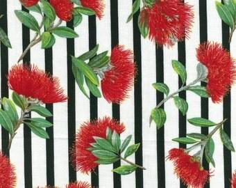 Fat Quarter Pohutukawa (New Zealand Christmas Flower) Cotton Quilting Fabric