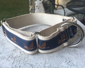 "Shadow's Flying Ducks on Hemp 1.5"" Martingale Collar"