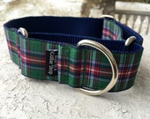 "Hogan's Forest Plaid 1.5"" Martingale Collar"