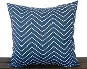 Pillow, Throw Pillow, Pillow Cover, Cushion, Decorative Pillow, Premier Navy Blue White Chevron modern contemporary home decor