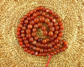 Antique Carnelian and Agate Beads