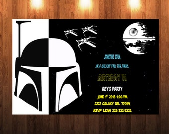 Boba Fett Invitation Etsy