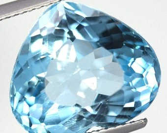 10.90 Carat Natural Swiss Blue Topaz Heart
