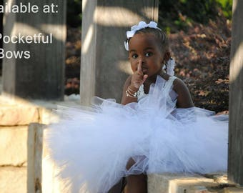 White Tutu, Toddler Tutu, White Tutu Skirt, Flower Girl Tutu, Birthday Tutu Skirt