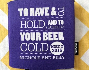 View KOOZIE® Wedding Favors by RookDesignCo on Etsy