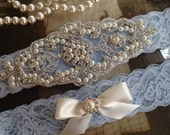Wedding Garter-Bridal Garter-Garter-Stretch lace-blue-something blue-Rhinestone-Pearl garter-Keepsake-Gray-Lace Garter-garter belt
