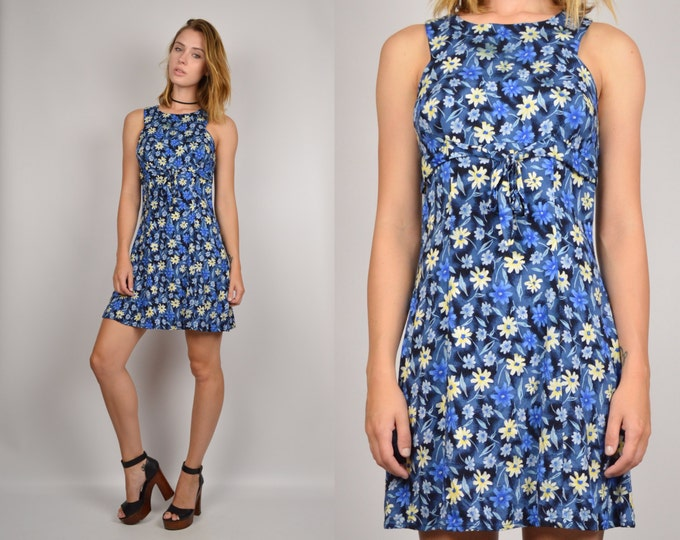 90's Floral Babydoll Dress