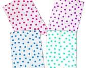 "20 - 10"" x 13"" Pink Teal Purple Blue Polka Dot -Flat Poly Mailers, Self Sealing Flat Envelope Mailers, Business Envelopes, Combo Mailer Bags"