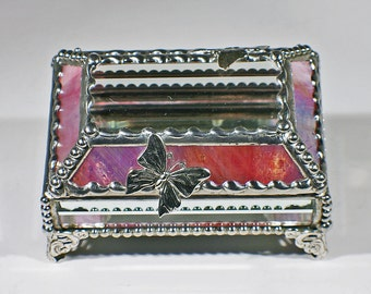 Butterfly Treasure Box  -Pink