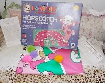 Lamb Chops, Preschool Board Game, Preschool Game, Vintage board Game, Shari Lewis Lamb Chops  & Friends Hopscotch Indoor Game 1993,  /:) s