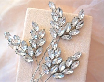 Rhinestone Hair Pins, Crystal Hair Pins, Bridal Hair Pins, Wedding Hair Pins, Rhinestone Bobby Pins, Crystal Bobby Pins, Bridal Bobby Pins
