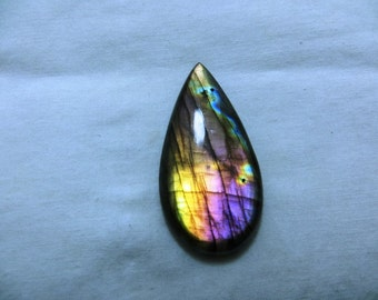 Labradorite Cabochon Gorgeous Full Flashy Amazing Fire Good Quality Pears Shape Size 24X47 mm Approx