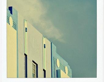 Miami South Beach Art Deco - Architectural Details Along Ocean Drive - Travel Photography - Fine Art Giclee Print - Pastel Blues, Greens