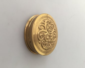 1950s Vintage AVON Embossed ROUGE Compact Never Used SHADE No 4 Color Harmony Rouge