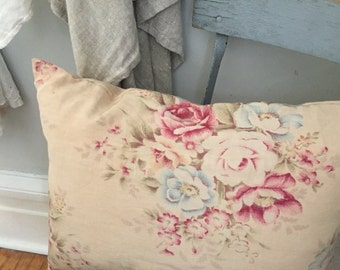 Vintage Floral fabric Pillow