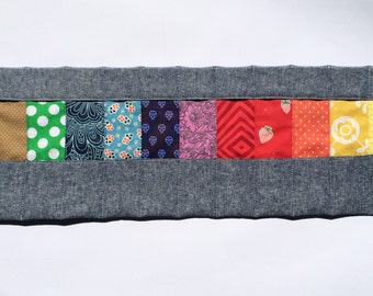 Filana crayon roll for 12 sticks and blocks, wax crayon pouch