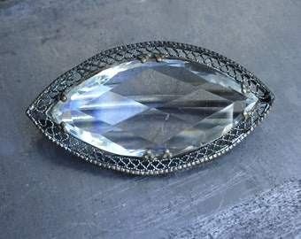 Art Deco Crystal Brooch