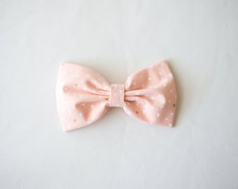 Light Pink Triangles Bow