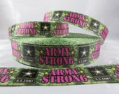 Army Strong Ribbon, Soldier Ribbon, Be all that you can be Ribbon, 7/8 Inch Ribbon by the yard, RN15291