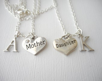 2 Mother Daughter- Initial Necklaces (Set)