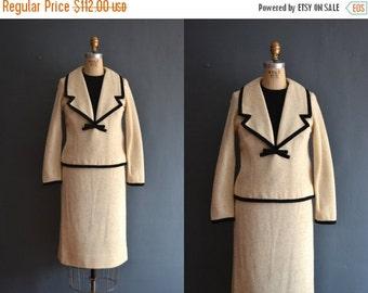SALE - 50s skirt suit / vintage 1950s dress skirt