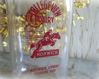rare vintage collegeview dairy milk bottle from norwich university