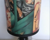 Medium Vintage Art Deco Ladies Lampshade - Lamp Shade
