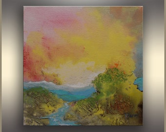 Original abstract painting Acrylic Painting on Canvas Landscape Painting Abstract Art Original Painting Acrylic Colorful Abstract Art