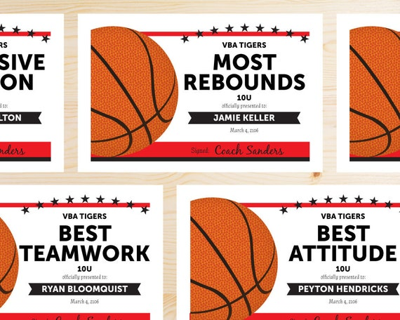 Exhilarating image within printable basketball certificates