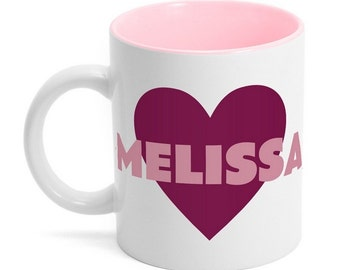 Customized Heart Ceramic Mug