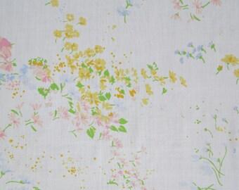 Vintage Sheet Fabric Fat Quarter - Sprinkled Soft Floral