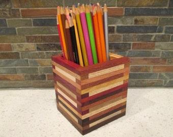 Desk Organizer, Pencil Holder, Desk Caddy, Office Organizer,  Artist Box, Wood Box