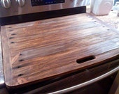 Rustic Plain Stove Top Cover- Range Toppers
