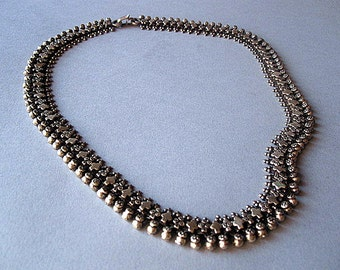 India Silver Tribal Necklace.