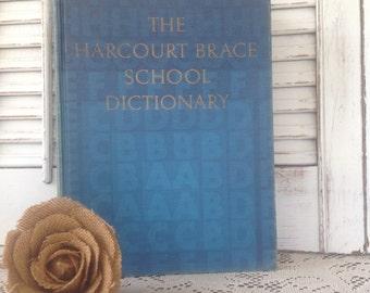 Vintage Harcourt Brace School Dictionary