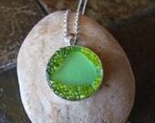 Lime Green Pendant Necklace DLJ0166